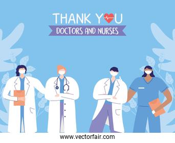 thanks, doctors, nurses, physicians and nurses medical staff support healthcare