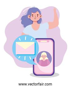 people communication and technology, smartphone people messaging email