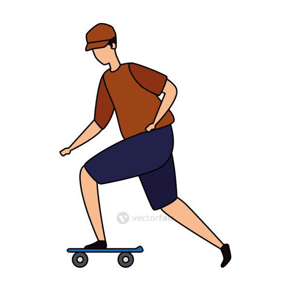 young man in skateboard avatar character