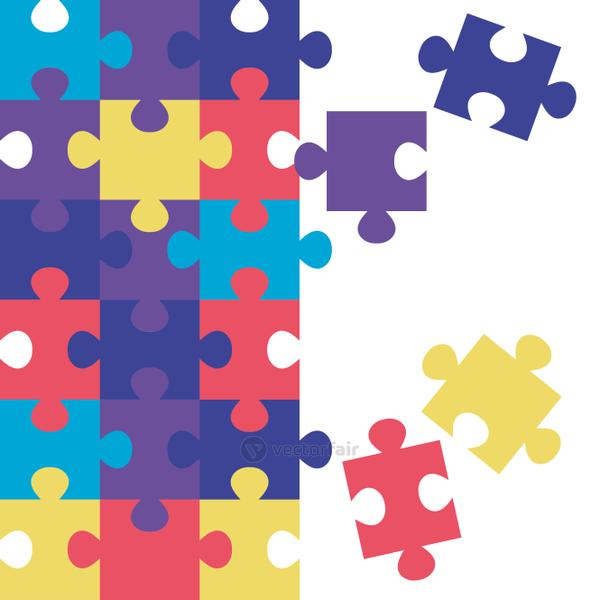 set of puzzle pieces icons