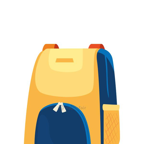 backpack personal equipment isolated icon