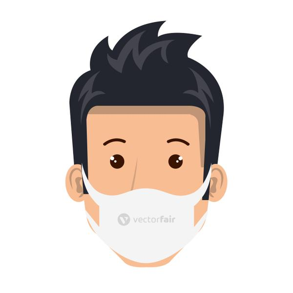 face of man using face mask isolated icon