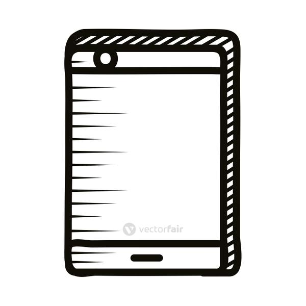 smartphone device doodle line style icon