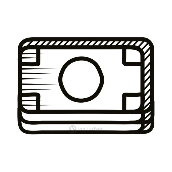credit card doodle line style icon
