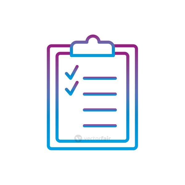 Document gradient line style icon vector design