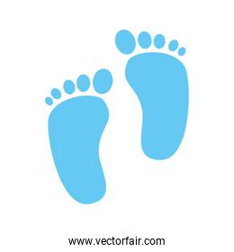 cute footprints baby isolated icon