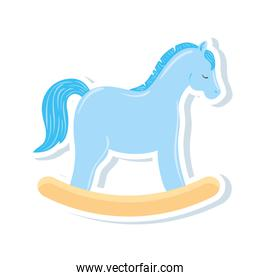 wooden horse toy isolated icon