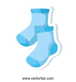 cute socks baby isolated icon