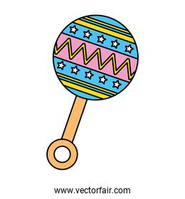 rattle baby toy isolated icon