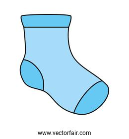 cute sock baby isolated icon