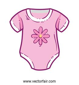 cute clothes baby girl with flower decoration