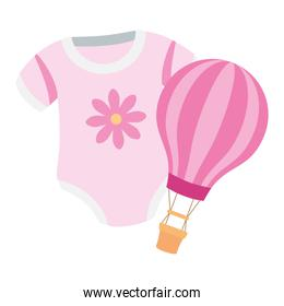cute clothes baby girl with balloon travel hot