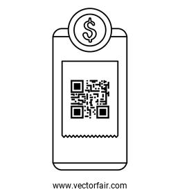smartphone device with scan code qr and coin