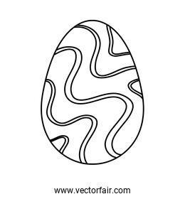 cute egg easter decorated waves lines