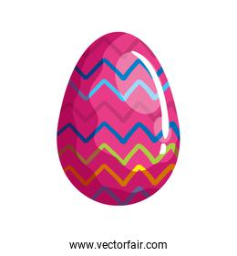 cute egg easter decorated with geometric lines