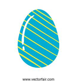 cute egg easter decorated with stripes