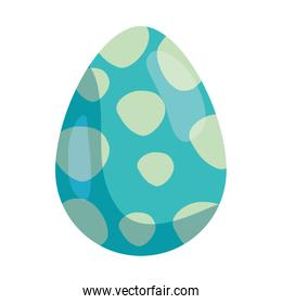 cute egg easter decorated with dots