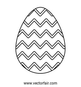 cute egg easter decorated with gemetric lines