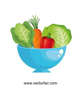 fresh pepper vegetable isolated icon