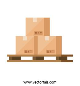 boxes packages cargo isolated icons