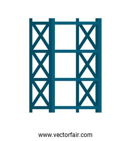 warehouse metal shelving isolated icon