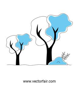 trees plants nature isolated icon