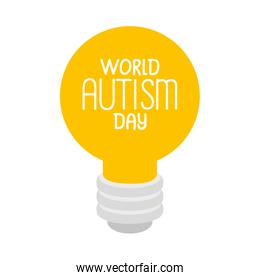 world autism day with light bulb