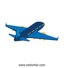 airplane flying transport isolated icon