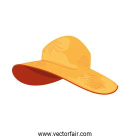summer hat female isolated icon