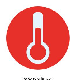 thermometer in frame circular isolated icon