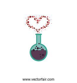 spell love in tube test fairytale object isolated icon