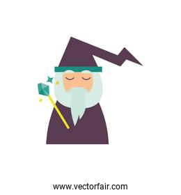 magician fairytale character isolated icon