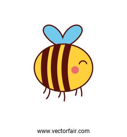 cute bee animal comic character