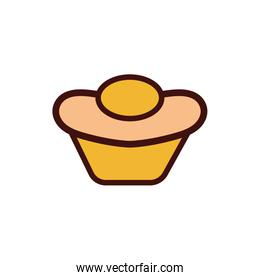 sweet cupcake pastry bakery icon