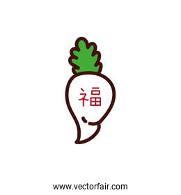 chinesse vegetable with letter decoration new year
