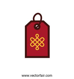 chinesse new year tag with symbol