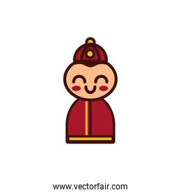 chinesse little boy decoration new year