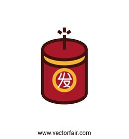 chinesse new year candle decorative