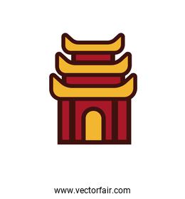 chinesse architecture building isolated icon