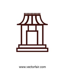chinesse arch door architecture icon