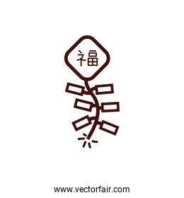 chinesse new year kite with letter