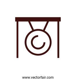 chinesse gong cultural isolated icon