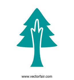 pine tree plant forest silhouette style icon