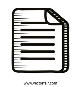 document paper doodle line style icon