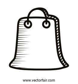 paper shopping bag doodle line style icon