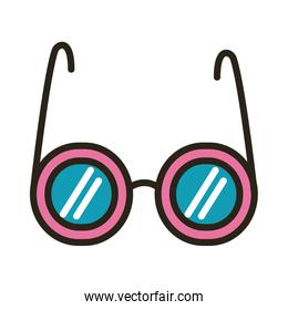 eyeglasses optical accessory line and fill style icon