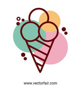 ice cream line and color style icon