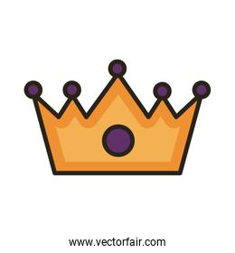 crown queen line and fill style icon