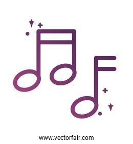 music note sound line degradient style icon