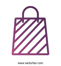 shopping bag paper line degradient style icon